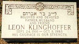 gravestone for Leon Klinghoffer